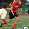 Beverly captain Dylan Perry looks to play the ball upfield against Bishop Fenwick on Tuesday afternoon. David Le/Staff Photo