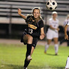 Beverly senior Emily Geras boots the ball upfield against Salem on Tuesday evening. David Le/Staff Photo