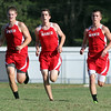 Masco senior captains from left, Jay Polakiewicz, Marco Caserta, and Jake Moorman, cruise to the finish line together as they grabbed the top three spots for the Chieftans against Ipswich on Wednesday afternoon. David Le/Staff Photo