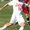 Masco senior Justin Clark takes a shot on net against Newburyport on Tuesday afternoon. David Le/Staff Photo