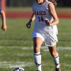 Masco junior Sammi Sheehan carries the ball upfield against Triton on Friday afternoon. David Le/Staff Photo
