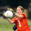 Beverly junior goalie Casey Cook reaches forward to make a save against Peabody on Saturday morning. The Tanners got a penalty kick goal from senior captain Victoria Digiacomo to down the Panthers 1-0. David Le/Staff Photo