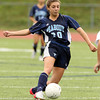 Peabody midfielder Madison Doherty controls the ball against Beverly on Saturday morning. David Le/Staff Photo