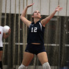Peabody outside hitter Jillian DiFelice serves against Salem on Thursday afternoon. David Le/Staff Photo