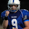 Danvers: Danvers junior quarterback Nick Andreas pumps his fist after senior Alex Valles broke free for a 95-yard touchdown run on 3rd and 15 in the first quarter of play. David Le/Salem News