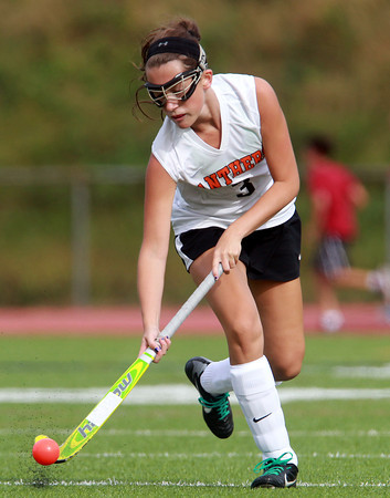 Beverly: Beverly's Molly Pitman carries the ball upfield against Gloucester on Monday afternoon. David Le/Salem News