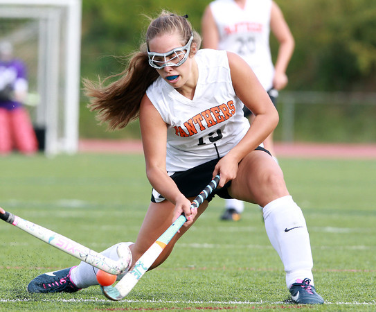 Beverly: Beverly's Marissa Laganis rips a shot on net against Gloucester on Monday afternoon. David Le/Salem News