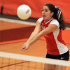 Beverly: Masco senior Jen Cardarelli concentrates on the ball while returning a serve on Monday afternoon against Beverly. David Le/Salem News