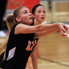 Beverly: Beverly's Bridget Keaton concentrates while making a bump pass to a teammate against Masco on Monday afternoon. David Le/Salem News