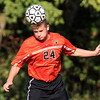 Salem: Beverly's George Hillios wins a header against Salem. David Le/Salem News