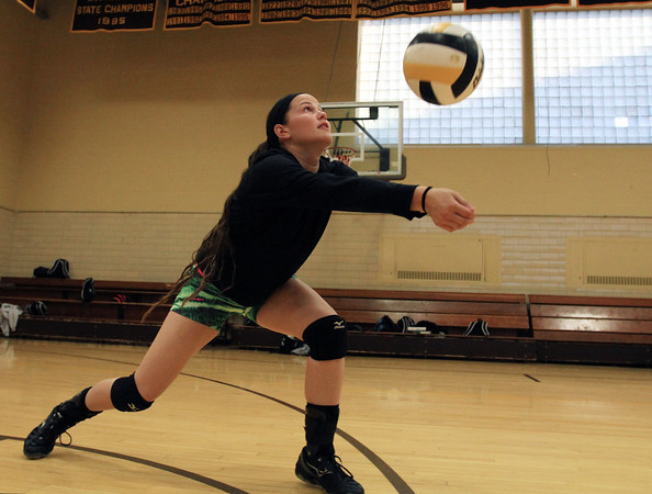 Peabody: Bishop Fenwick senior captain and outside hitter Gianna Pizzano has helped lead the Crusaders to a 8-1 record on the 2013 campaign. David Le/Salem News
