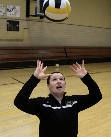 Peabody: Bishop Fenwick senior captain and setter Tessa McLaughlin has helped lead the Crusaders to a 8-1 record on the 2013 campaign. David Le/Salem News