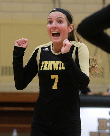 Peabody: Bishop Fenwick senior captain Jen Crovo reacts after the Crusaders registered a point on Archbishop Williams on Tuesday afternoon. David Le/Salem News