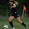 Danvers: Swampscott senior Shauna King carries the ball upfield against Danvers on Thursday evening. David Le/Salem News