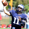 Swampscott: Swampscott senior quarterback Brendan McDonald fires a pass against Marblehead on Saturday afternoon. David Le/Salem News