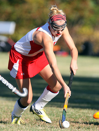 Boxford: Masco senior forward Belle Ives cuts her way through the Amesbury defense while carrying the ball on Thursday afternoon. David Le/Salem News