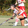 Boxford: Masco senior captain Julianna Kostas passes the ball upfield against Amesbury on Thursday afternoon. David Le/Salem News