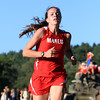 Hamilton: Masco junior Meghan Collins sprints across the finish line to capture first place (19:53) for the Chieftans during their meet against Hamilton-Wenham at Patton Park on Wednesday. David Le/Salem News