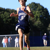Hamilton: Hamilton-Wenham senior Matt Gillis sprints to the finish line against Masco on Wednesday afternoon. Gillis completed the course in 16:23, to set a new course record for the Generals. David Le/Salem News