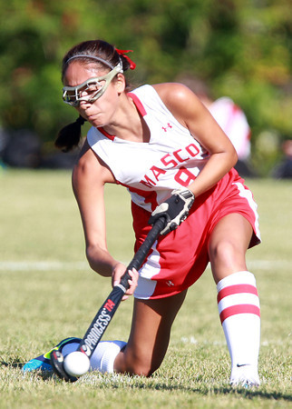 Boxford: Masco senior captain Julianna Kostas fires a shot on net against Pentucket on Friday afternoon. David Le/Salem News