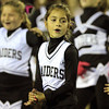 Peabody: Peabody Raiders cheerleaders perform a routine at halftime of the Peabody vs Danvers NEC Football game on Friday evening. Danvers, behind two 70+ yard rushes from junior Chris Behen, and an 85-yard fumble recovery return from senior Alex Valles, defeated the Tanners 20-14 at Coley Lee Field. David Le/Salem News