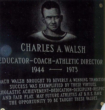 Plaque honoring Charlie Walsh