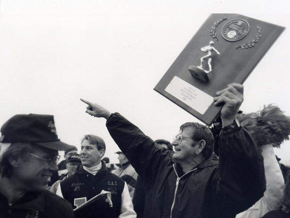 Ipswich: Jack Welch with the MIAA Division IVB East Football Champions award in 1991.