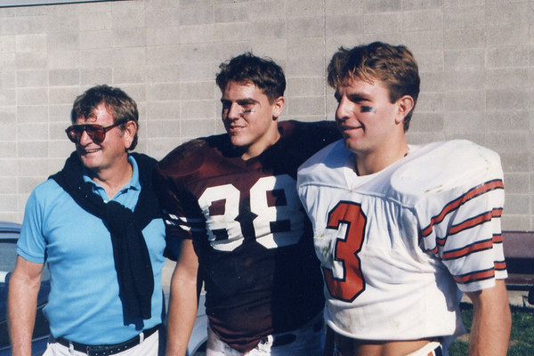 Ipswich: Jack Welch with top players John O'Flynn '91 and Brett Budzinski '92.