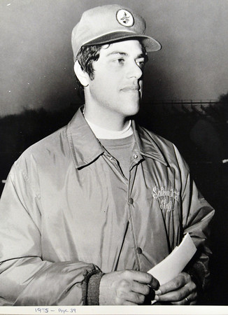 Ken Perrone was 39 in this picture from 1975 during his second year as coach at Salem High School. Courtesy photo