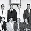 Bondy, sitting in middle, with Big Blue captains club in 1961. These were all captains and co-captains from Bondy's early teams. Future Marblehead coach, a captain in 1959, is fourth from right in top row