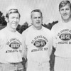 Fred Glatz, center, was assisted by Brian Flatey, left, and John Westfield during the 1967 football season at St. John's Prep. , Lred Glatz, center, was assisted by Brian Flatey, left, and John Westfield during the 1967 football season at St. John's Prep.