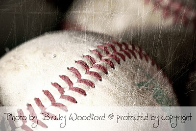 Baseballs with scratchy texture