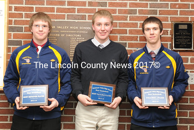 Medomak Valley boys basketball awards were presented to Zach Little, Nicholas DePatsy and Michael Wadsworth.