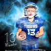 16x20 Blue football Carter