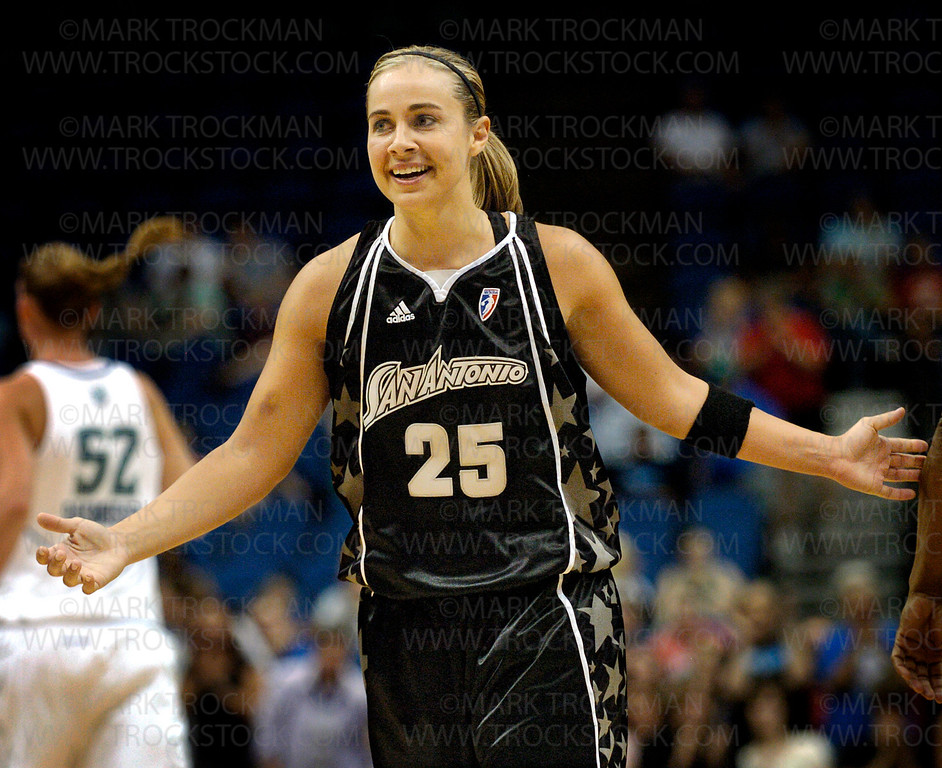 Silver Stars starting Guard Becky Hammon at Target Center in Minneapolis Friday, July 25, 2008.