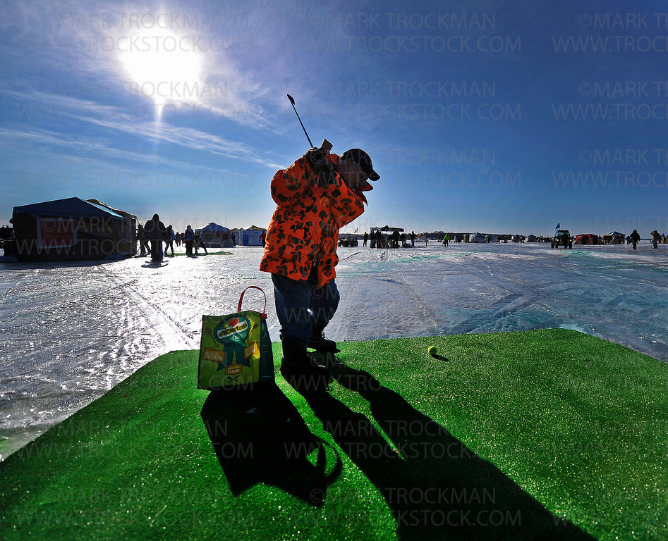 For 17 years in a row, Cottage Grove resident Richard Huerta has braved single digit temperatures, dangerous wind chills, overly bright reflected sunlight, and the camaraderie of close friends to participate in the annual Chilly Open on Wayzata Bay on Lake Minnetonka.  Saturday morning Feb. 11, started out at about nine degrees above zero but Huerta and Team Jamonia were not deterred.
