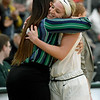 Missouri Southern senior Chelsey Henry gets a hug from assistant coach Chamissa Anderson after Henry played the final home game of her career on Tuesday night at Leggett & Platt.<br /> Globe | Laurie Sisk
