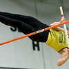 Missouri Southern's Samantha Petry  competes in the pole vault during the Lion Open indoor meet on Saturday at Leggett & Platt.<br /> Globe | Laurie Sisk
