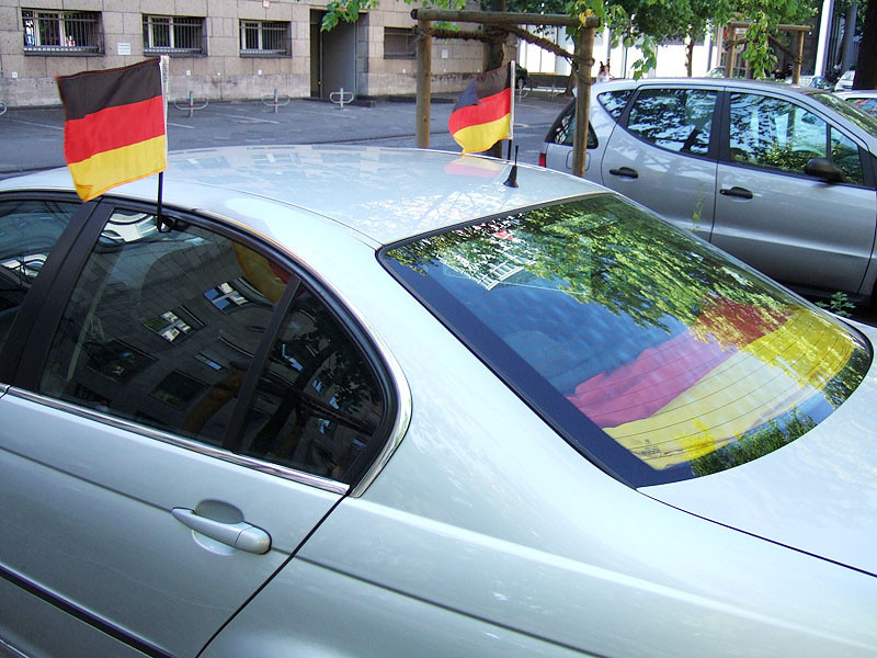 Merceds with German Flags