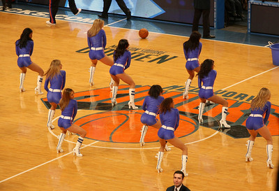 The Knicks City Dancers.