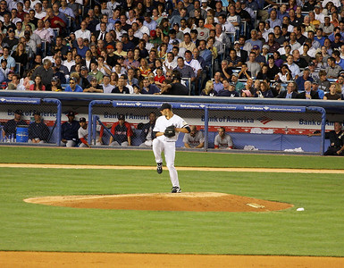 Andy Pettitte on the mound in the Bronx.