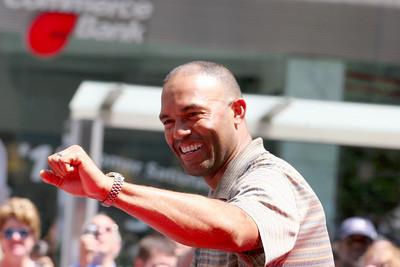 Mariano Rivera at the MLB All-Star parade in Manhattan July 2008.