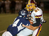 """A Harlandale (San Antonio, Texas) runner is brought up short by Boerne-Champion (Boerne, Texas) defensive back James Clark during Region IV, 4A, season play, October 14, 2011, in Boerne, Texas.<br /> <br /> Selected as one of the top 20 action photos by MaxPreps' professional photographers from the 2011 football season.<br /> <br />  <a href=""""http://www.maxpreps.com/news/article.aspx?articleid=29c2b2ee-8c17-e111-beac-002655e6c45a&page=10"""">http://www.maxpreps.com/news/article.aspx?articleid=29c2b2ee-8c17-e111-beac-002655e6c45a&page=10</a>"""