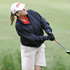 Globe/Roger Nomer<br /> Jill West, Joplin, chips onto the green while competing in Monday's Horton Smith Tournament in Carthage.