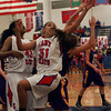 11-10-12<br /> Kokomo vs Northwestern girls bball<br /> Allie Lowe of Kokomo reaches back for the ball during the game against Northwestern on Saturday night.<br /> KT photo | Kelly Lafferty