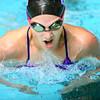 11-20-12<br /> Northwestern HS swimming Vs. Pioneer<br /> Savanah Gamester swimming the individual IM<br /> KT photo | Tim Bath