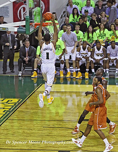 Perry Jones III flies high with another of his slam-dunks.