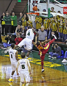 This shot is the one where Quincy Acy fouled out of the Iowa State game. He went out with a bang, and it was quite a collision. Fortunately no one was hurt.