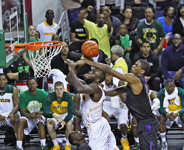 In the Kansas State game with 1:32 sec. left, Quincy Acy went up for a shot and got slammed to the floor and no foul called. Play continued as if nothing ever happened. Quincy was obviously fouled and shortly afterward the game was over and Baylor lost 57-56 to Kansas State.