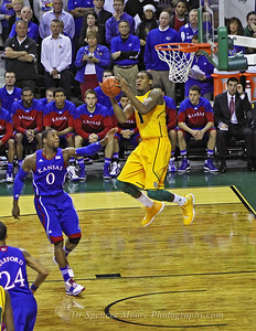 Perry Jones III receiving an ally-oop pass against Kansas.